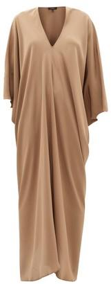 BEIGE Thea - The Teodora Dolman-sleeve Silk-satin Maxi Dress - Womens - Dark