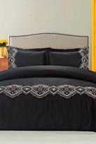 Melange Home Morocco Embroidered Duvet Set - Black/Multi