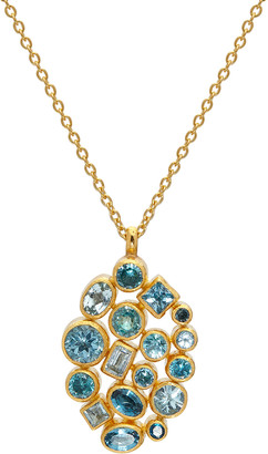 Gurhan Mixed Stone Cluster Pendant Necklace