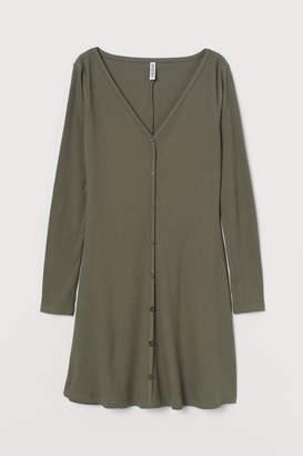 H&M V-neck jersey dress