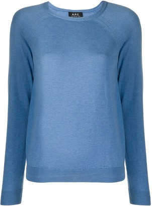 A.P.C. Long-Sleeve Fitted Jumper