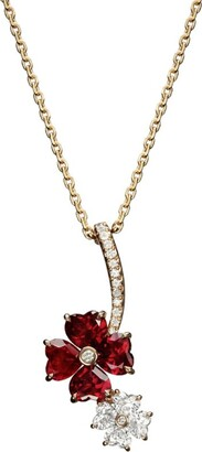 Chopard For You A Lovely Diamond and Ruby Pendant