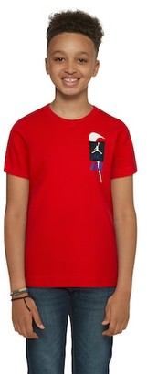 Jordan Legacy Retro 4 T-Shirt - Red / Military Blue Black White