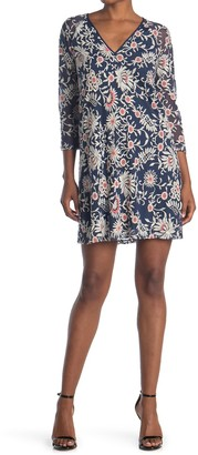 Adrianna Papell Marrakesh Embroidered Trapeze Dress