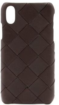 Bottega Veneta Intrecciato Leather Iphone Xs Case - Brown
