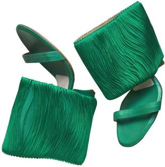 Maison Margiela Green Leather Heels