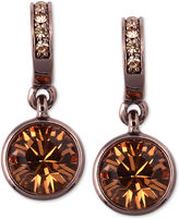 Givenchy Earrings, Brown Gold-Tone Glass Stone Drop Earrings