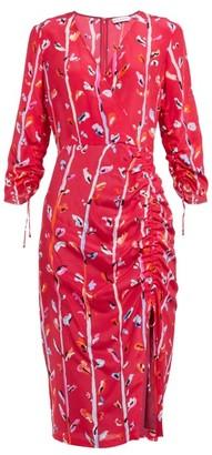 Altuzarra Oriana Floral-print Silk Dress - Pink Multi