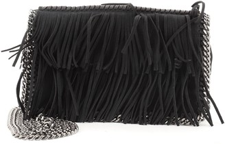Stella McCartney Falabella Fringe Flap Crossbody Bag Suede Mini