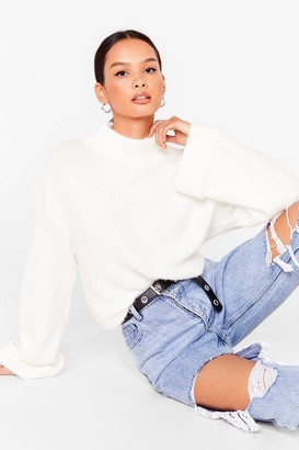 Nasty Gal Womens We Really Know Our Fluff-y Knit Jumper - White - S, White
