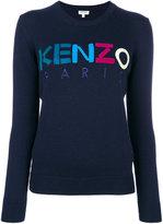 Kenzo branded jumper - women - Wool - XS