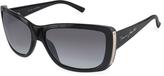 Plastic Rectangular Signature Temple Sunglasses