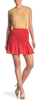 GOOD LUCK GEM Smocked Waist Mini Skirt