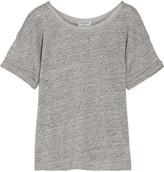 Frame Le Slouchy Slub Linen T-shirt - Gray