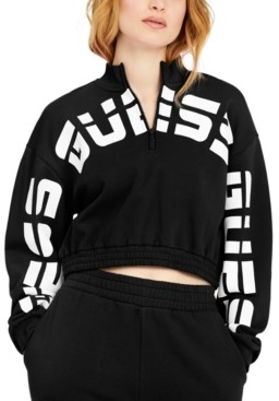 GUESS Eco Amber Cropped Logo Sweatshirt