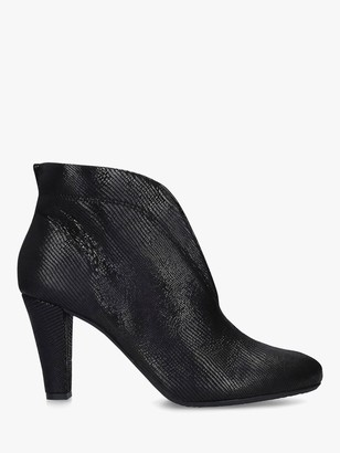 Carvela Comfort Rida Cut Out Leather Ankle Boots, Black
