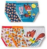 Disney Zootopia Little Boys' 5-Pack Of Briefs Sizes 4-8