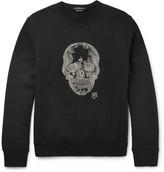 Alexander McQueen Embellished Loopback Cotton-Jersey Sweatshirt