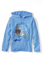 Classic Little Boys Graphic Hoodie-Calm Blue Great White