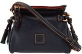 Dooney & Bourke As Is Florentine Leather Mini Zip Crossbody
