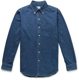 orSlow Button-Down Collar Selvedge Denim Shirt