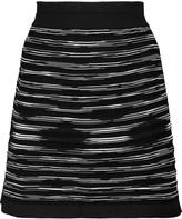 M Missoni Paneled mesh and stretch-knit mini skirt