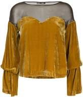 Aula mesh and velvet top