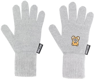 Moschino Teddy Patch Gloves