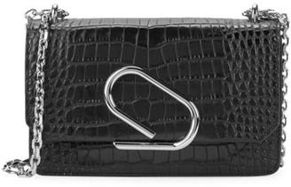 3.1 Phillip Lim Alix Croc-Embossed Leather Clutch