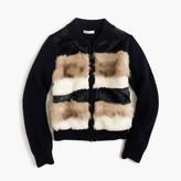 J.Crew Girls' merino wool striped bomber-sweater