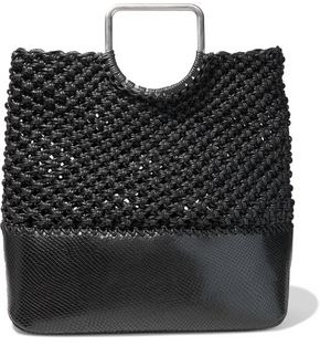 Proenza Schouler Runway Market Coated Macrame And Snake-effect Leather Tote