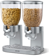 Zevro Classic Dry Food Dispenser Double Canister