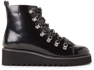 Wanted Black Hunter Wedge Lace-Up Boots