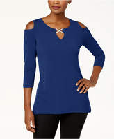JM Collection Cold-Shoulder Keyhole Tunic, Created for Macy's