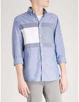 Tommy Hilfiger Flag-panel Regular-fit Cotton Shirt
