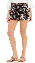 Angie Twin Floral Printed Tie Waist Shorts