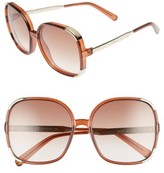 Chloé Women's Myrte 61Mm Gradient Lens Square Sunglasses - Brown