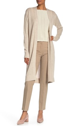 Theory Linen & Cashmere Open Front Cardigan