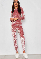 Missy Empire Viviana Pink Crushed Velvet Lounge Tracksuit