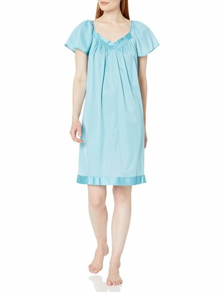 Exquisite Form Women's Flutter Sleeve Knee Length Nightgown