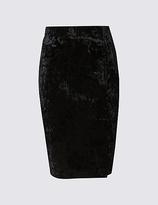 M&S Collection Velvet Pencil Midi Skirt