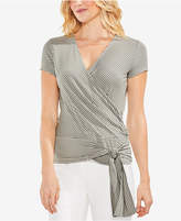 Vince Camuto Striped Faux-Wrap Blouse