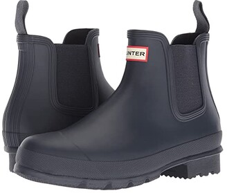 Hunter Chelsea Boot (Navy) Men's Boots