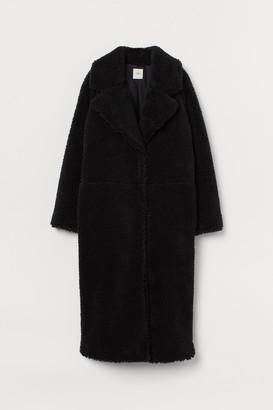 H&M Long Faux Shearling Coat