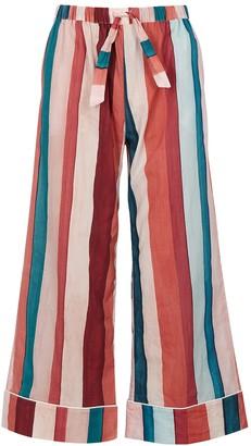 Desmond & Dempsey Medina printed cotton pyjama trousers