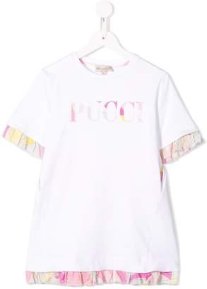 Emilio Pucci Junior logo jersey shift dress