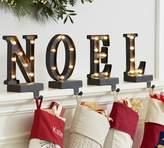 Pottery Barn Lit Bronze Word Stocking Holder - NOEL