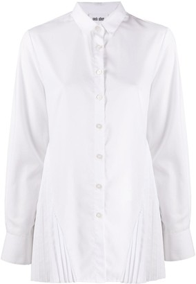Each X Other Pleated Detail Distressed Shirt