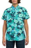 RVCA Men's Backroom Floral Print Shirt
