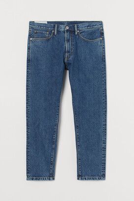 H&M Regular Tapered Crop Jeans